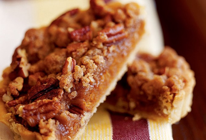 Sweet Potato Tarts with Brown Sugar-Walnut Streusel