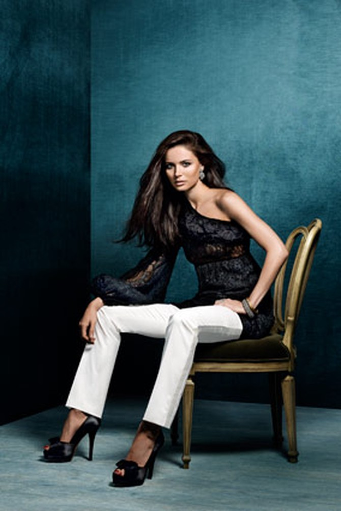 Georgina Chapman adds a touch of extravagance.