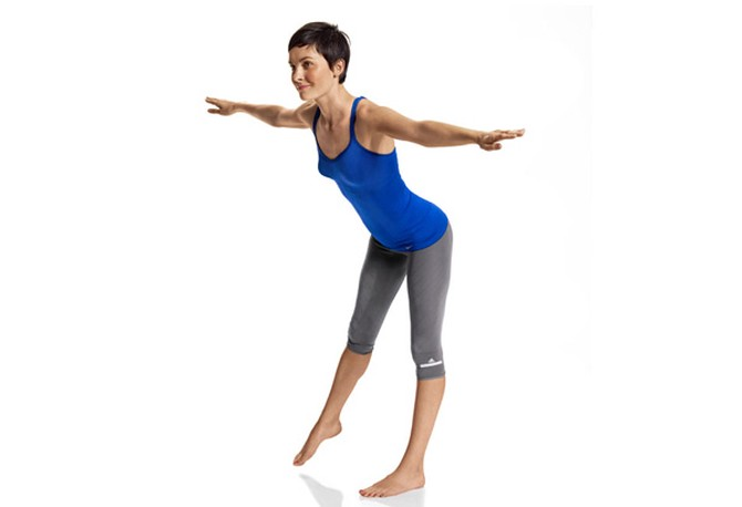 Posture exercise standing side kick