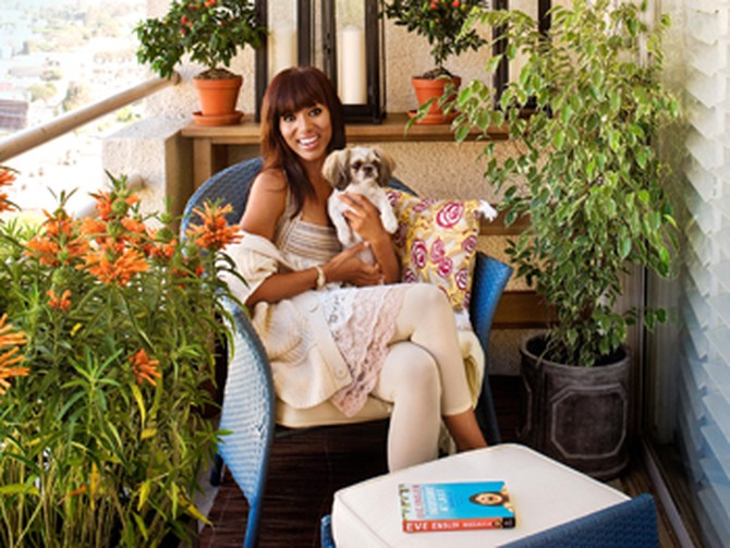 Kerry Washington's green patio