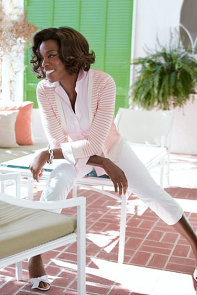 Viola Davis in Brooks Brothers and Gap