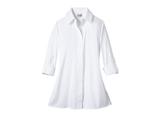Chicos crisp button down shirt
