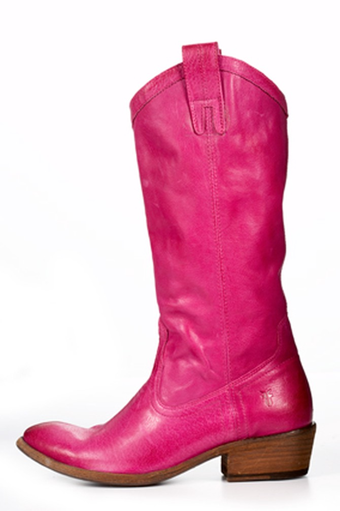 Pink Frye Boot