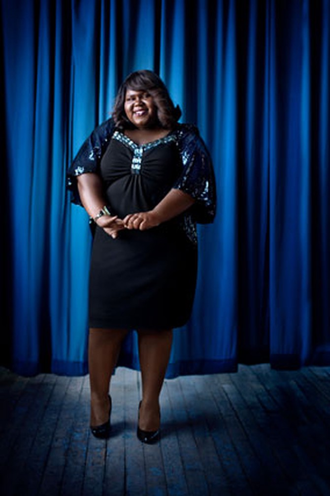 Gabourey Sidibe in O, the Oprah Magazine