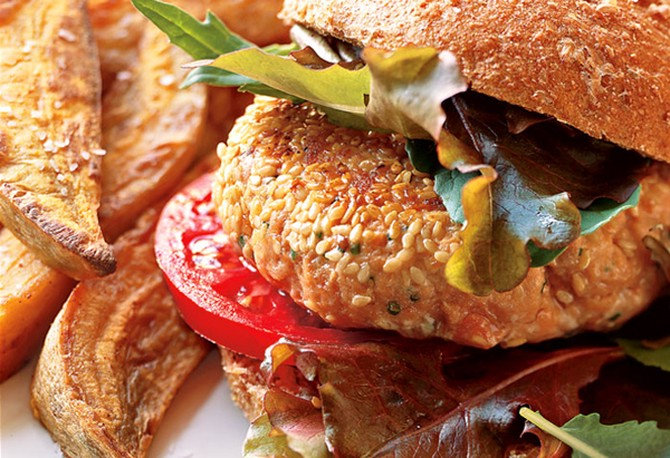 Guiltless Salmon Burger