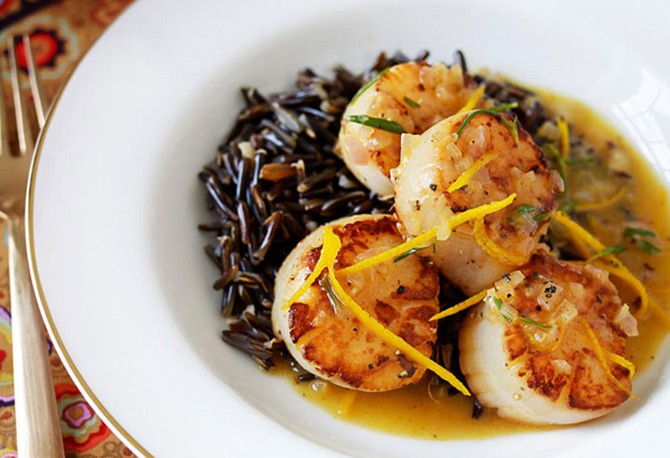 Sea Scallops with Orange and Rosemary