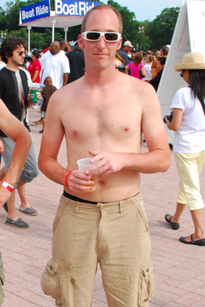 Going shirtless in public makes a man undateable.