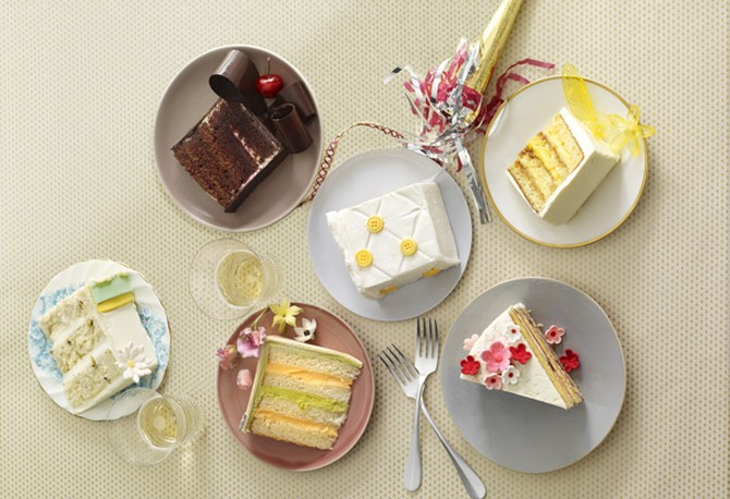 Slices of cake