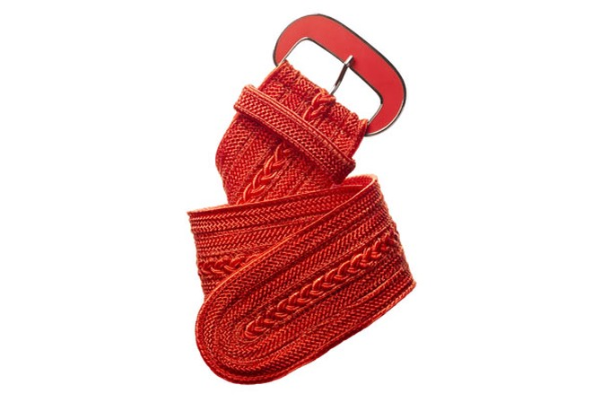 orange woven belt