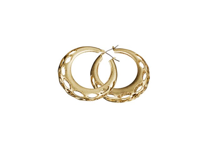 cut-out hoop earrings