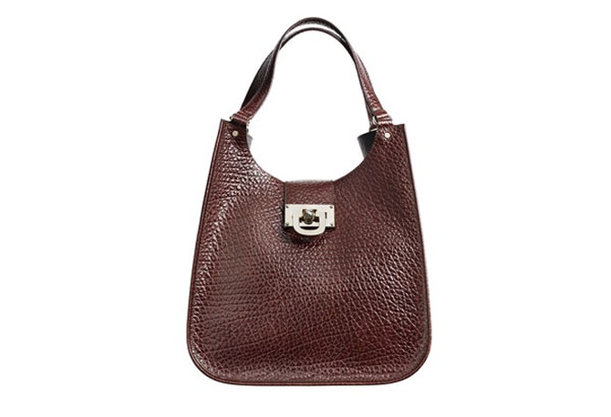 structured leather handbag