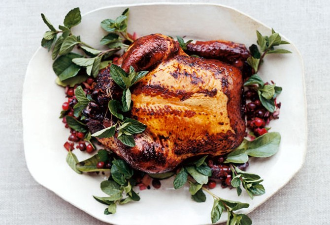 Cranberry and Lime-Leaf Drunken Chicken