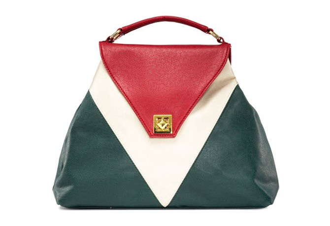 red, white and green bag