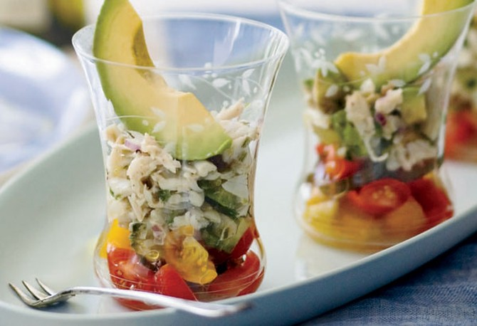 Chile-Lime Crab Salad with Avocado
