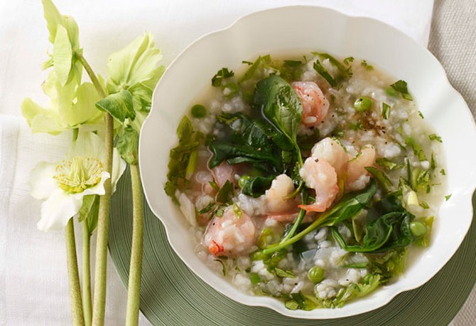 Shrimp, Pea, and Rice Stew