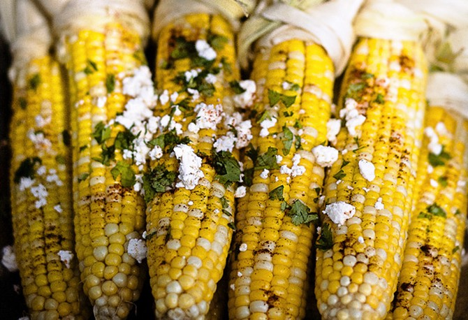 Mexican-Style Corn on the Cob with Lime, Ancho and Queso Fresco Recipe