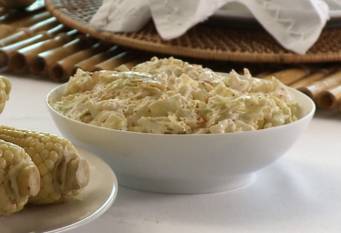 Crunchy Coleslaw with Creamy Lemon Poppy Seed Dressing Recipe