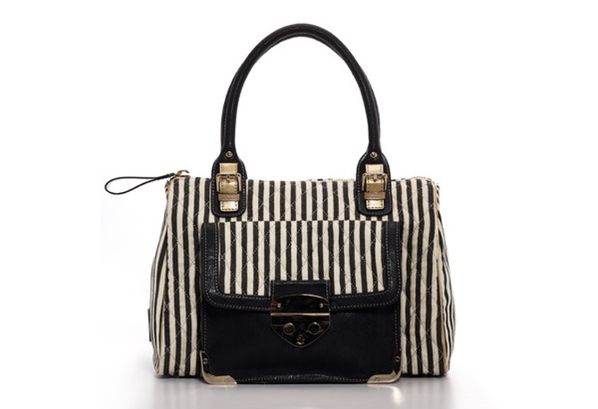 Jessica Simpson Collection striped satchel