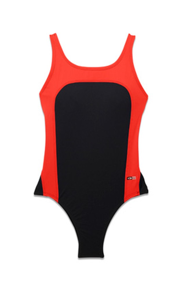 EQSwimwear red and black one-piece swimsuit