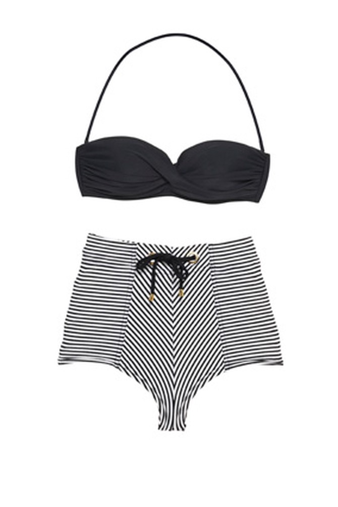 Rosa Cha bandeau top and striped boy short bottoms