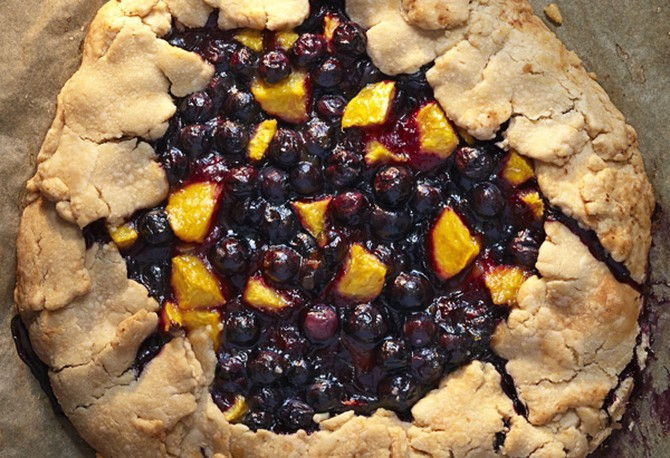 Blueberry and Nectarine Tart
