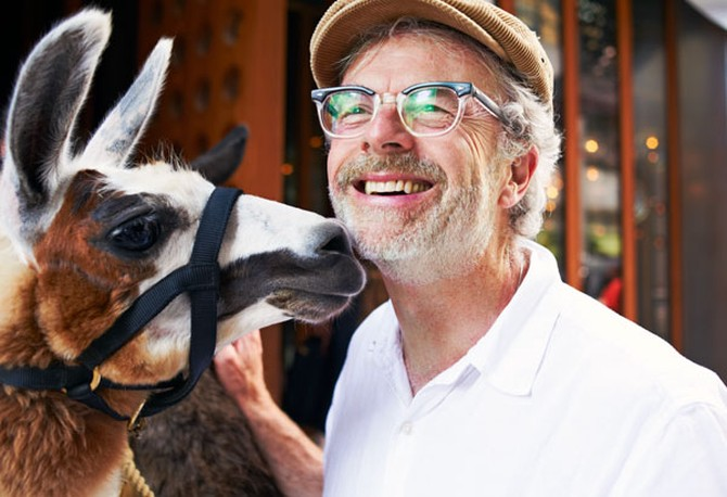 Chris Craymer and Llama