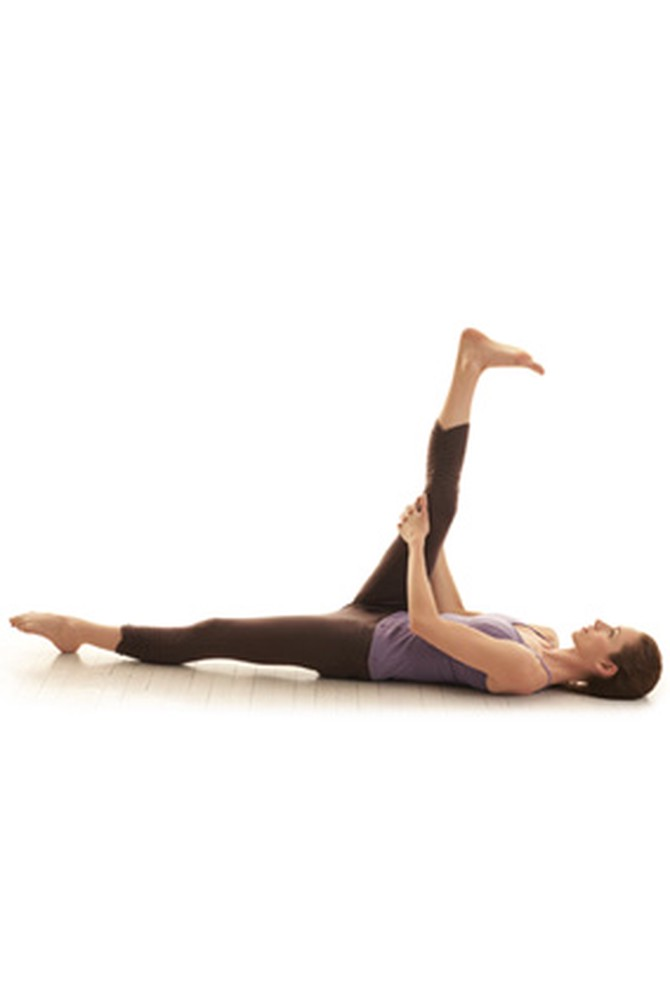 Hamstring release yoga pose