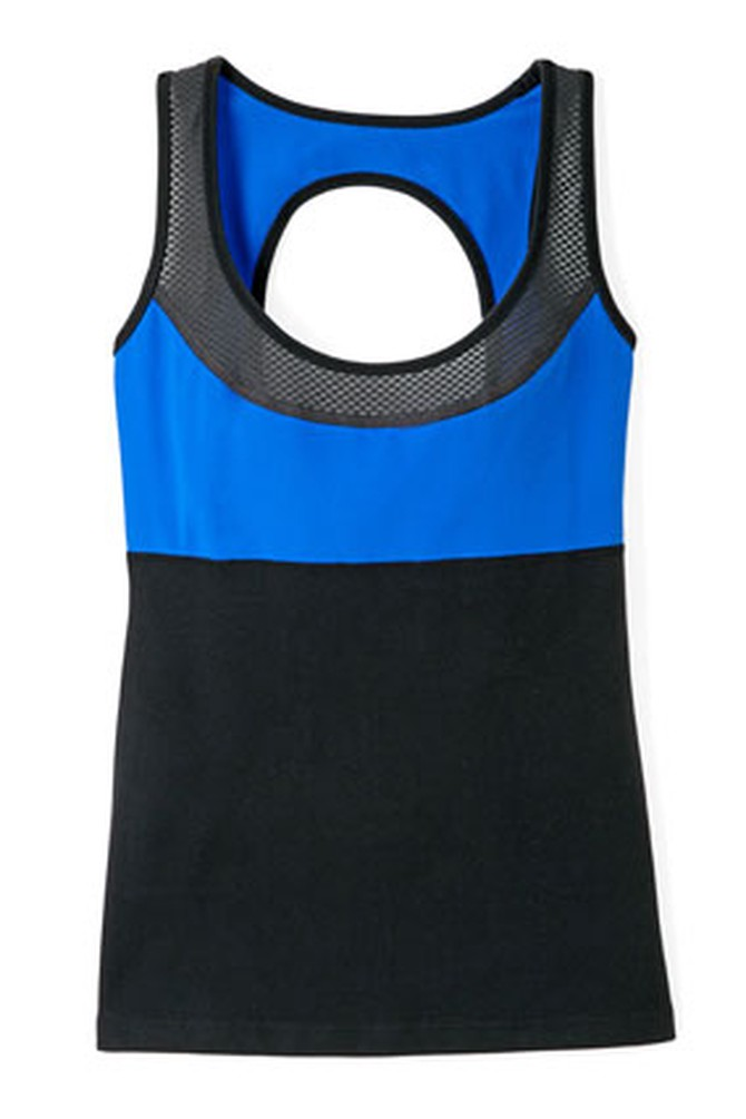 blue and black tank