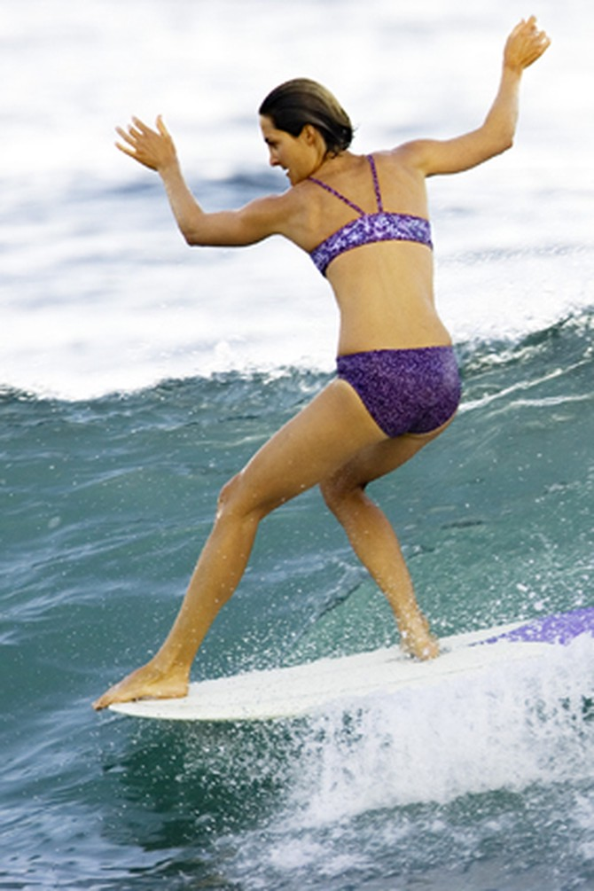 Las Olas surfing instructor Julie Cox
