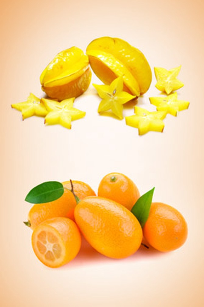 Star fruit and kumquat