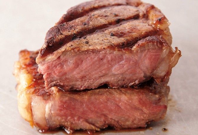 Medium-rare steak