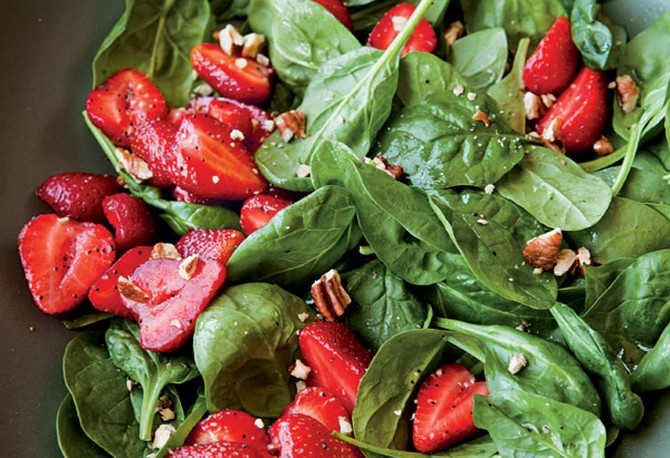 Fresh Strawberry and Spinach Salad