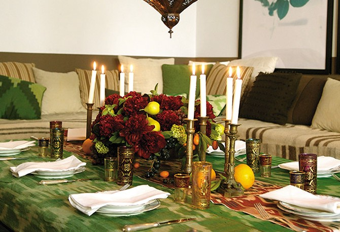 Living room tablesetting
