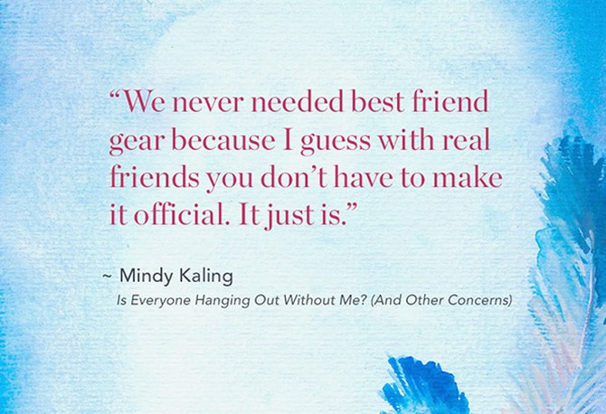 Mindy Kaling memoir quote