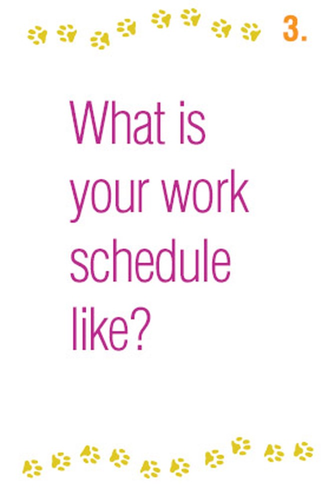 What is your work schedule like?