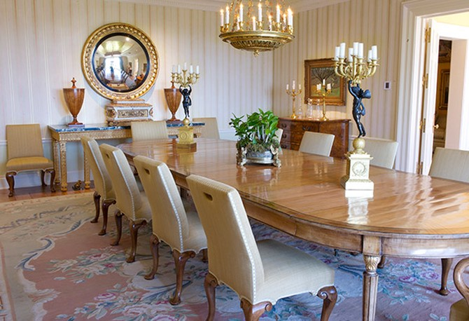 Oprah's dining room