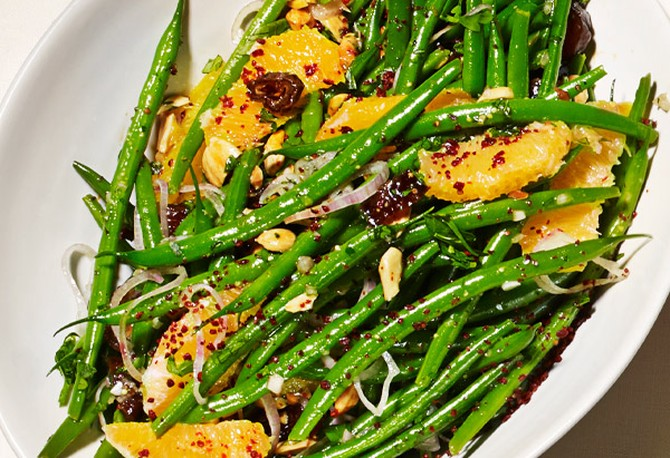 Jose Garces's Green Beans with Oranges and Dates