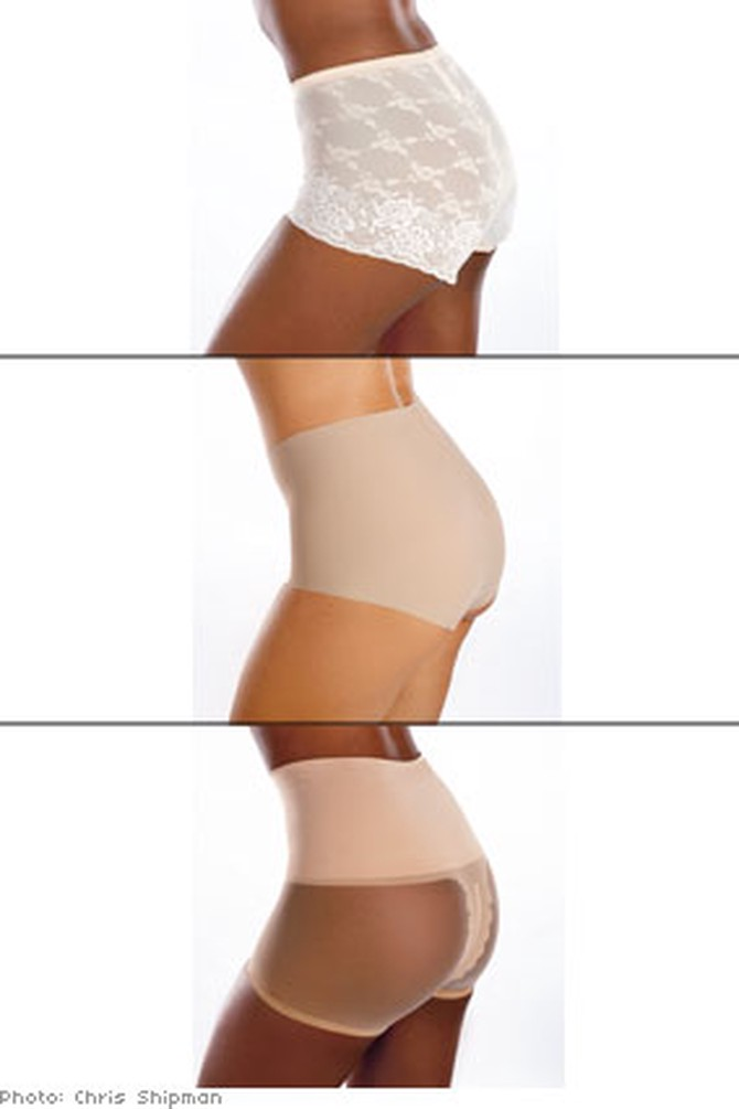Shapewear creates smooth lines under skirts.