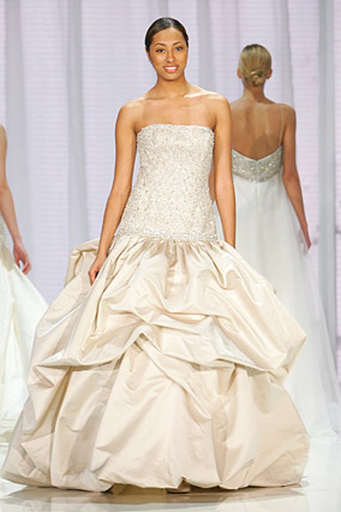 Amsale says this taffeta wedding gown is her favorite.