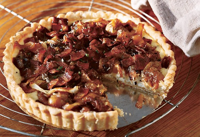 Caramelized Onion and Bacon Tart brunch recipe