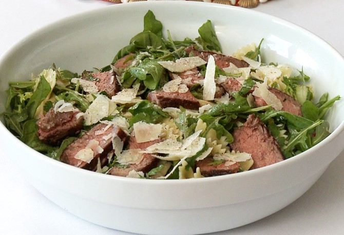 Herbed Farfalle and Steak Salad