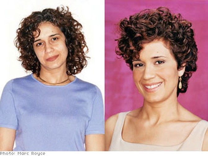 A daycare center owner's beauty makeover to look younger.