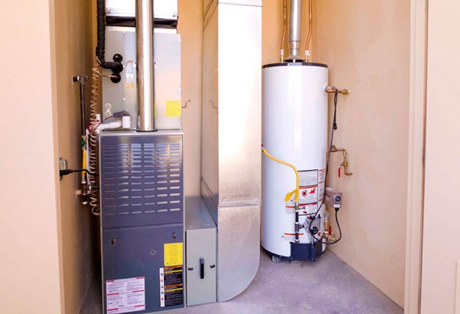 Water heater and furnace