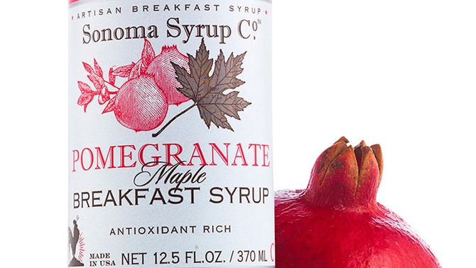 Pomegranate maple breakfast syrup