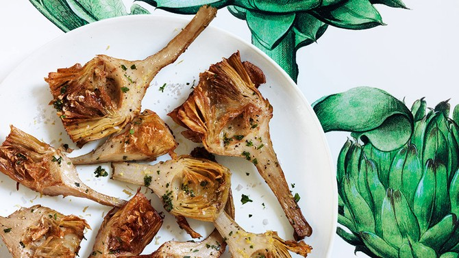Fried Artichokes with Lemon and Parsley