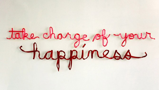Take Charge of Your Happiness - Art by Christine Wong Yap