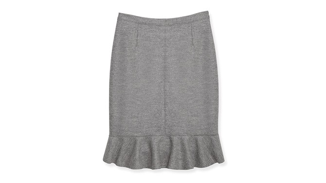 Gray Flared Skirt