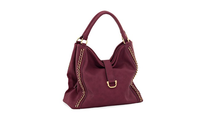 Wine and Gold Tote