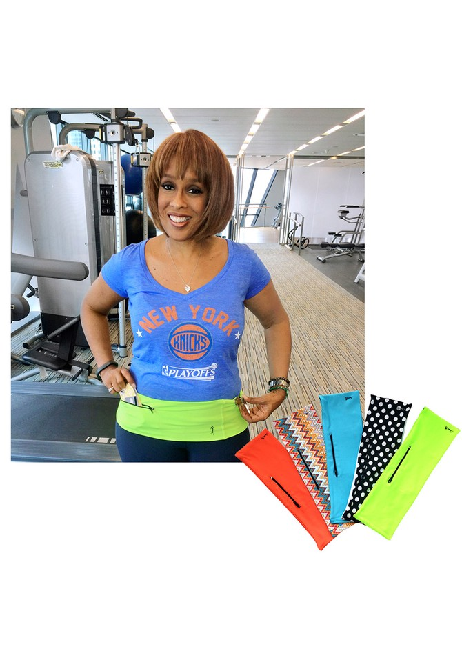 Gayle King wearing the Hips-sister