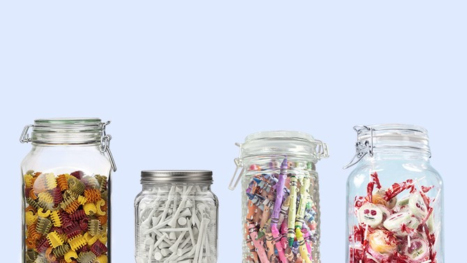 clear containers for organizing